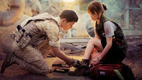 Drama Korea kertas dinding containing a rifleman and a green beret entitled Descendants of the Sun