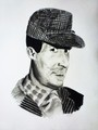 Dev Anand portrait - bollywood photo