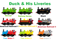 Duck and his liveries - thomas-the-tank-engine fan art