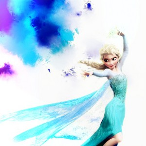 Elsa Paint Background