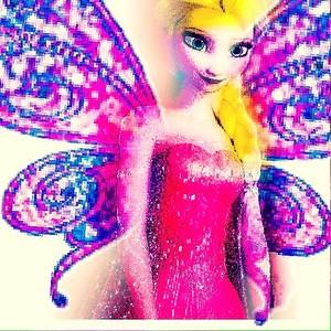 Elsa as a Fairy