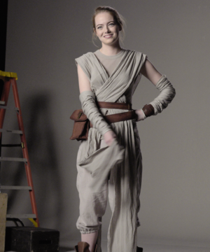 Emma Stone || nyota Wars: The Force Awakens Auditions - SNL (Nov 21, 2015)