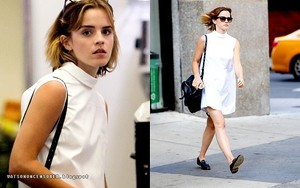 Emma Watson and a friend in NYC [April 23, 2016]