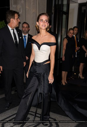 Emma Watson attends The MET Gala 2016 on May 02, 2016