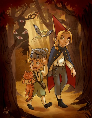 FMA and over the garden mural crossover