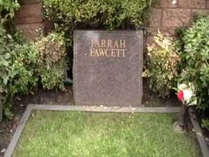 Farrah Fawcett grave