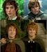 Frodo Baggins, Samwise Gamgee, Merry, and Pippin - lord-of-the-rings icon