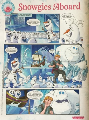 Frozen Fever Comic - Snowgies Aboard