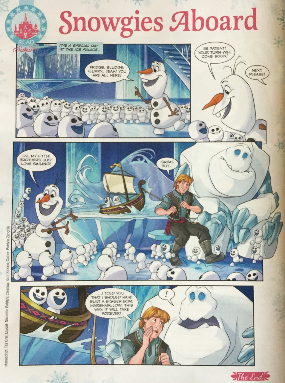 Frozen Fever Comic - Snowgies Aboard