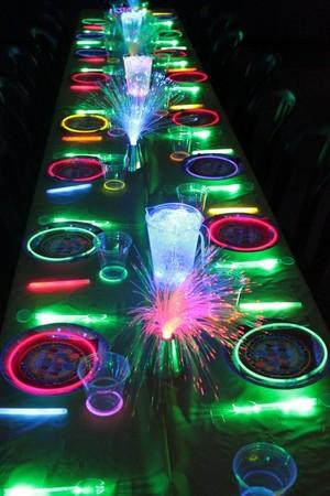 Glow stick birthday party
