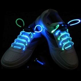 Glow stick shoe laces