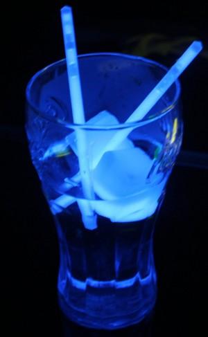 Glow stick straws
