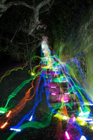 Glow stick stream oder waterfall