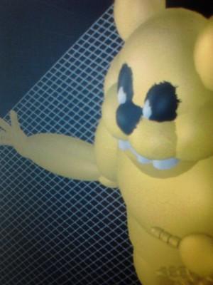 Golden Freddy 3D Model Attempt