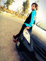 Handsome young man leaning on his car. Attractive gorgeous guy standing, outdoors - emo-boys photo