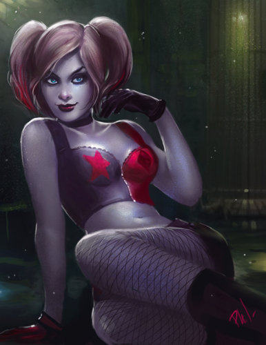 Harley Quinn wallpaper possibly containing attractiveness, a lingerie, and an undergarment called Harley Quinn