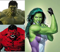 Hulk, She-Hulk, and Red Hulk - marvel-comics photo
