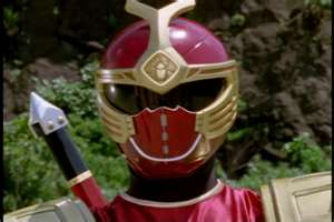 Hunter Morphed As The Ninja Storm Crimision Thunder Ranger