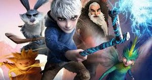 Jack Frost, North, Bunnymund, Toothiana, and Sandy
