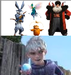 Jack Frost, North, Bunnymund, Toothiana, and Sandy - rise-of-the-guardians icon