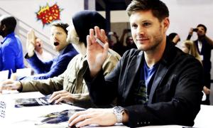 Jensen Jared Misha Comic Con 2013