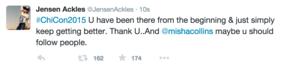 Jensen and Misha's Tweets