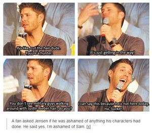 Jensen complains about Jared's hair
