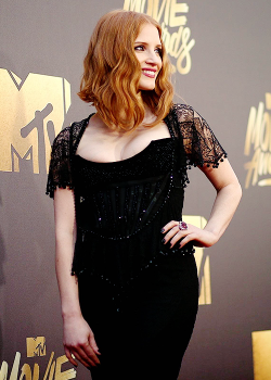 Jessica Chastain at the MTV Movie Awards 2016.