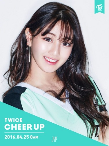 Twice (JYP Ent) वॉलपेपर with a portrait called Jihyo ''Cheer Up'' teaser pic