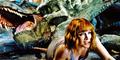 Jurassic World Screencaps - Tyrannosaurus Rex, Indominus Rex & Claire Dearing