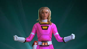 Katherine pink Zeo Power Ranger and Original pink Turbo Ranger 2