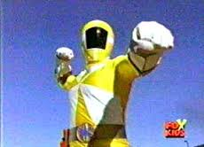 Kelsey Morphed As The Yellow Lightspeed Ranger