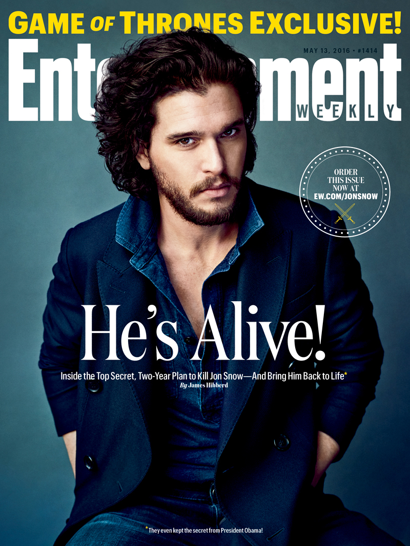 Kit Harington- EW Cover