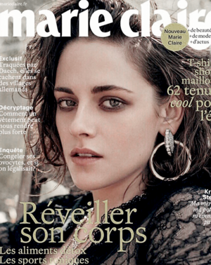 Kristen Stewart on Marie Claire France Cover, June 2016