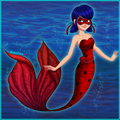 Ladybug as a Mermaid