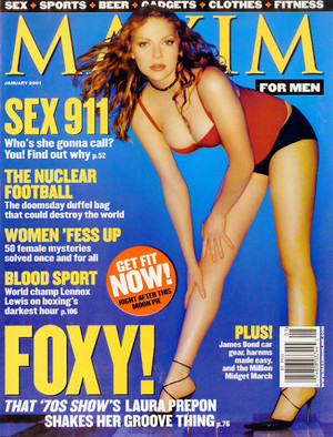 Laura Prepon - Maxim Cover - 2001