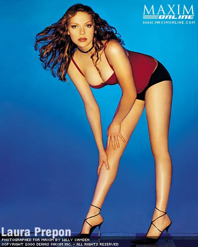 Laura Prepon wallpaper probably containing a swimsuit entitled Laura Prepon - Maxim Photoshoot - 2001