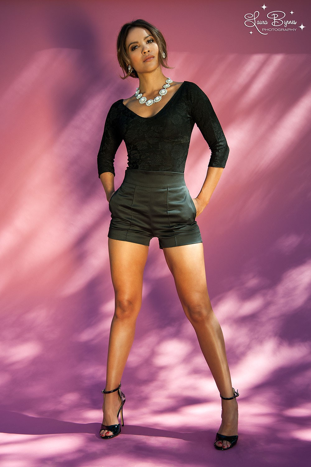 Lesley-Ann Brandt - Pinup Girl Clothing Photoshoot - Cali High Waisted Shorts