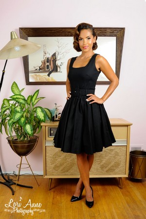 Lesley-Ann Brandt - Pinup Girl Clothing Photoshoot - Lana cocktail Dress