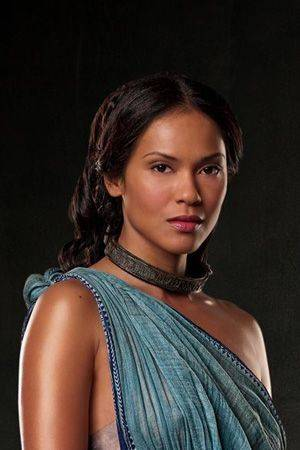 Lesley-Ann Brandt as Naevia in Spartacus: Blood and Sand