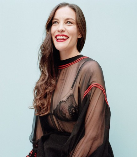 Liv Tyler achtergrond probably containing a blouse, a garment, and an outerwear called Liv Tyler - Yahoo Style Photoshoot - January 2016