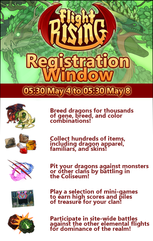 Flight Rising wallpaper probably with animê entitled MAY REGISTRATION WINDOW!