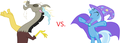 MLP Fanart Discord vs. Trixie - discord-my-little-pony-friendship-is-magic fan art