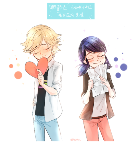 Miraculous Ladybug वॉलपेपर probably with a portrait called Marinette and Adrien