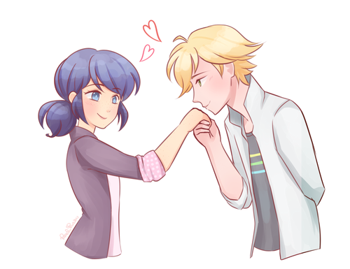 Miraculous Ladybug Hintergrund probably containing Anime titled Marinette and Adrien