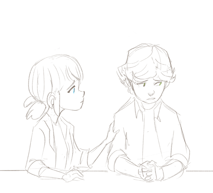 Miraculous Ladybug Marite And Adrien Coloring Pages