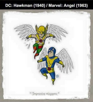 Marvel vs DC - Angel / Hawkman