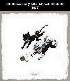 Marvel vs DC - Black Cat / Catwoman
