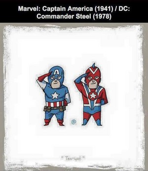 Marvel vs DC - Captain America / Commander Steel