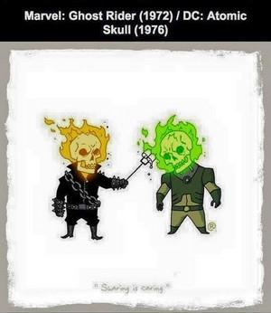 Marvel vs DC - Ghost Rider / Atomic Skull